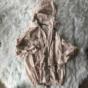Light Pink Love 21 jacket with optional hoodie szL